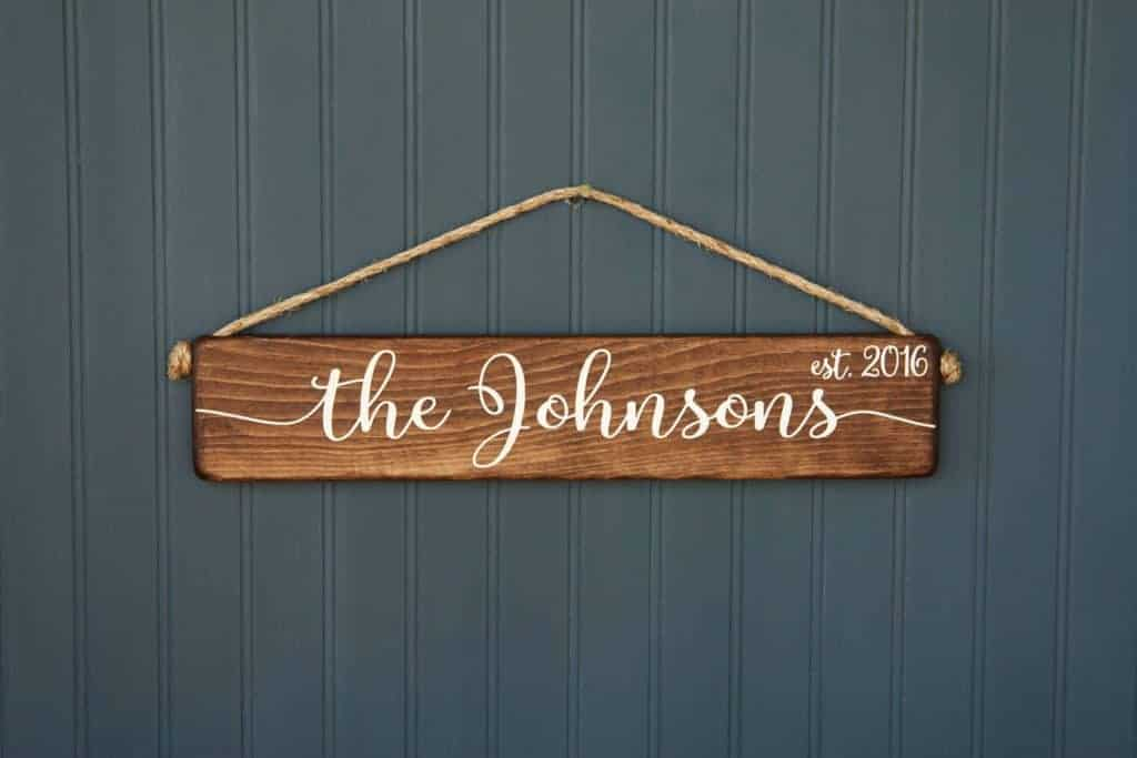 Last Name Sign - Wedding Gift - Liberty Island Farm