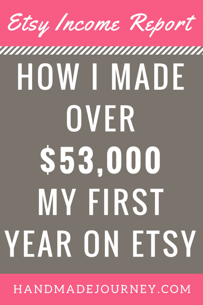 I was able to make over $53,000 my first year as an Etsy seller. Check out my Etsy income report to learn how I turned my handmade hobby into a thriving business.