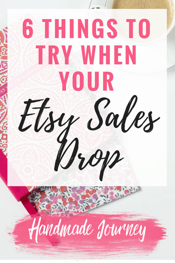 When your Etsy sales slow down it's easy to lose motivation. Here are a few things to try so that you can get your sales back up as quickly as possible.