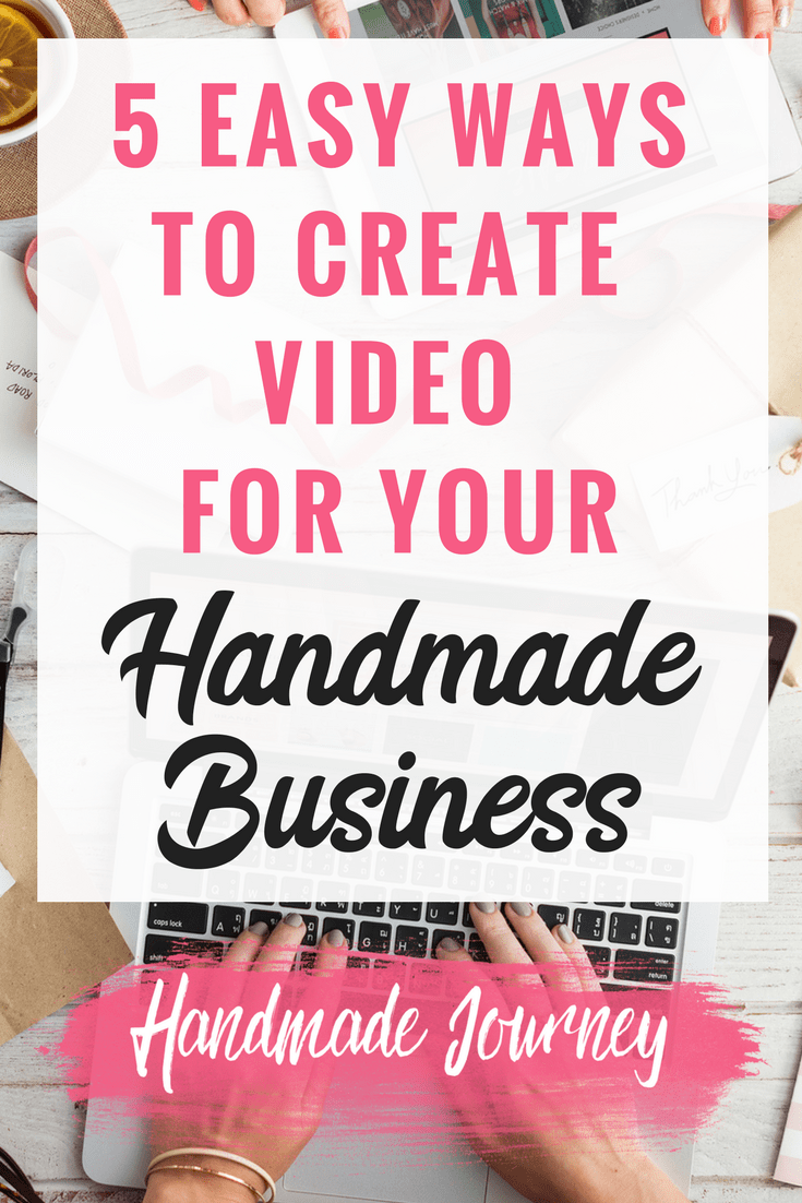 Creating video for your handmade business is a great way to your handmade products in front of more people and beat the Facebook and Instagram algorithms because they prefer video.